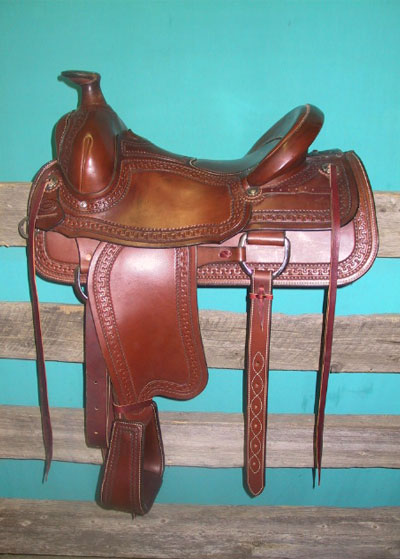 "Saddle #84 BOWMAN ROPER QH Bars ~ 4 1/2"" Cantle ~ #4 Dally Horn ~ 16"" Seat Price: $4,725.00 plus tax"